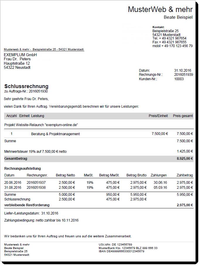 rechnungen im deutschen umsatzsteuer recht. Black Bedroom Furniture Sets. Home Design Ideas